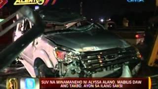 24 Oras: Alyssa Alano, sugatan matapos maaksidente  sa minamanehong SUV
