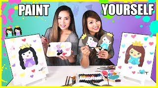 PAINT YOURSELF CHALLENGE!!! Sis Vs Sis Princess ToysReview