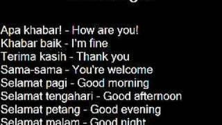 Learn Malay Language-Belajar Bahasa Melayu Ep.1