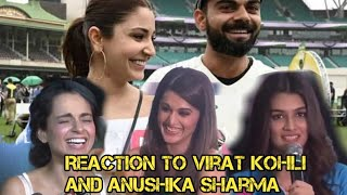 Bollywood actress reaction to virat kohli and anushka sharma and their love and affairs