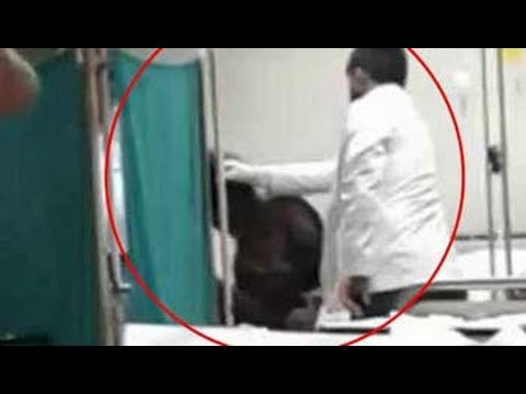 Junior doctor caught on camera beating unconscious patient