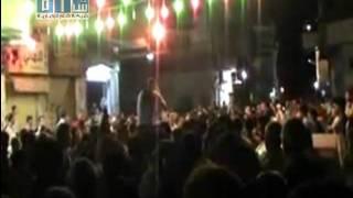 شام - دمشق - برزة - مظاهرة مسائية حاشده 11-7