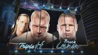 Triple H vs Brock Lesnar Highlights Wrestlemania 29 T1
