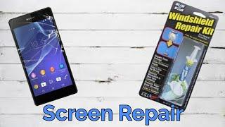 Repair A Phone Screen with a Windshield Repair Kit