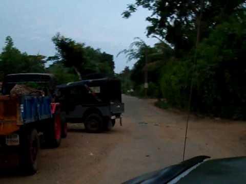 Driving through Karapura village 1, Jungle Lodges, Kabini, Indian Wildlife TV