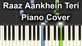 Raaz Aankhein Teri  Piano Cover|Raaz Reboot|Chords+Tutorial+Lesson+Notes+Instrumental|Arijit Singh