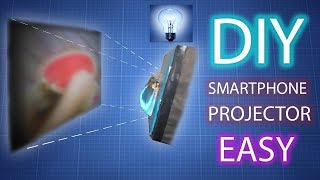How to Make Mini Smartphone Projector Without Magnifying Glass at Home