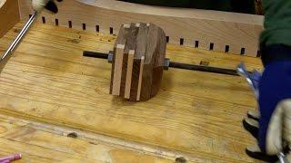 Twisted Table 6 - Threaded Rod Hidden in Walnut