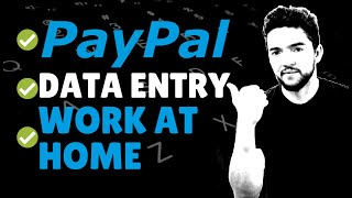 Data Entry Work-From-Home Jobs That Pay PayPal 2020