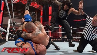 Roman Reigns vs. Randy Orton vs. Ryback – No. 1 Contender's Match: Raw, April 6, 2015
