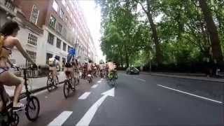 World Naked Bike Ride (WNBR) - London 2015 (King's Cross Start)