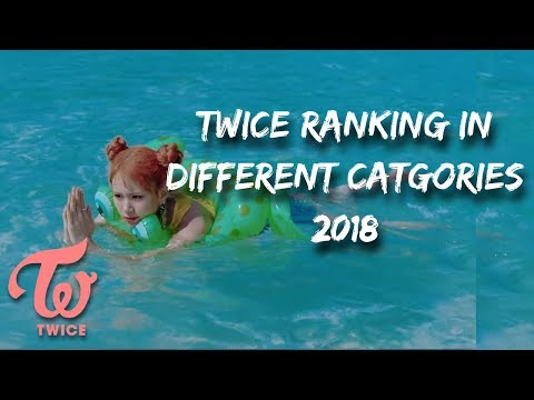 TWICE RANKING IN DIFFERENT CATEGORIES 2018