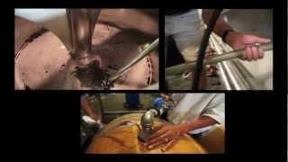 The Foot Crush Process at Clos de la Tech Winery