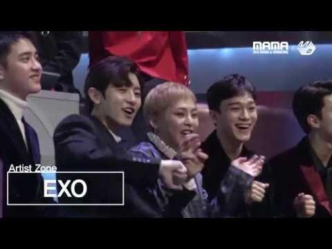 [2016MAMA x M2] EXO Reaction to Suzy&BaekHyun's performance