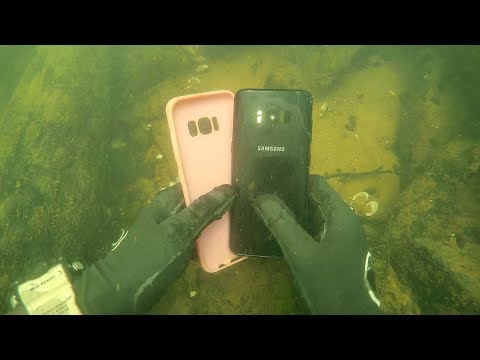 Found Galaxy S8 Underwater in River While Scuba Diving Vlogging Underwater
