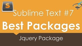 Sublime Text 3 - Best Packages #7 | Jquery Package