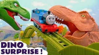 Thomas and Friends Dinosaurs Surprise Toy Trains Episode with Batman Mashems and Surprise Eggs TT4U