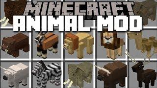 Minecraft LOTS OF ANIMALS MOD / HELP MARK SPAWN HIS JUNGLE VILLAGE ANIMALS!! Minecraft