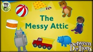♡ Between The Lions - The Messy Attic - Educational Video Game For Kids English