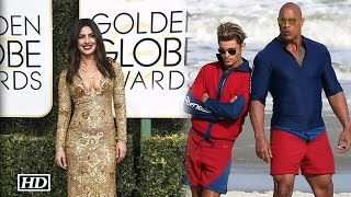 Co-Stars Dwayne and Zac go Head over heels for Priyanka Chopra