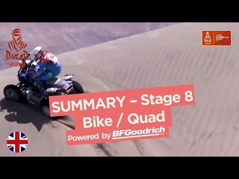 Summary Bike Quad Stage 8 San Juan de Marcona Pisco Dakar 2019