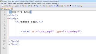 105. Embed Tag in HTML (Hindi)