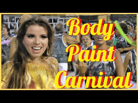 Xxx Mp4 BODY PAINT CARNIVAL 2017 GOLDEN COLOR PAINTING ON GORGEOUS DIVA AT RIO MICHELE 3gp Sex