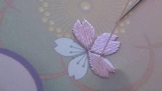 Japanese Embroidery 日本刺繍 - Cherry Blossom (Sakura) Vertical Layer Technique