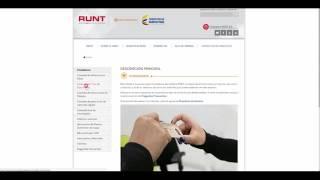 Video Ciudadanos Nueva página RUNT