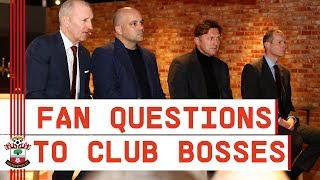 FANS MEET SAINTS BOSSES | Supporters put questions to the board and manager