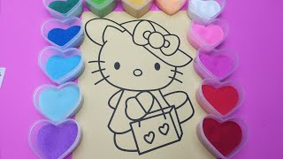 Colored Sand Painting Hello Kitty Toy for Kids |P. Play&Learn