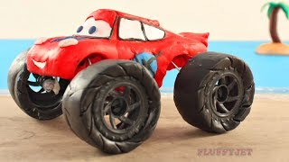 Lightning McQueen Truck Play In Sand Disney Cars Play Doh Stop Motion Are you sleeping song for kids