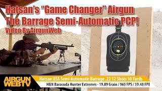 Hatsan Barrage Semi-Automatic PCP Airgun with Hunting Power! - Airgun Review By AirgunWeb