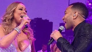 John Legend Joins Mariah Carey for Surprise Christmas Concert Duet