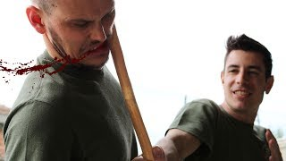 KRAV MAGA TRAINING • Stick vs bare hands: how to counterattack stick beatings (part 1)
