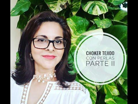 COMO HACER UN UN CHOKER TEJIDO EN PERLAS CULTIVADAS PARTE 2! Con Cecy Love Bisuteria