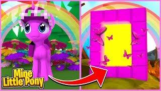 Mine Little Pony: LITTLE KELLY DESTROYS PONYLAND! (Minecraft Little Carly).