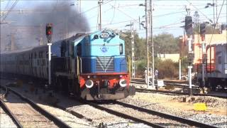 EPIC FAIL ! SPEEDING TRAIN with ALCo  Indian Railways
