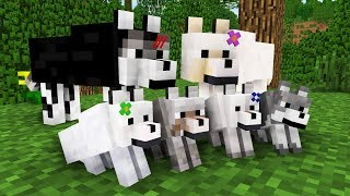 WOLF LIFE MOVIE | Cubic Minecraft Animations | All Episodes + BONUS