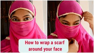 How to tie a scarf/Dupatta around your face(HINDI)|Summer scarf|3 Easy methods|Pretty Girl Niky