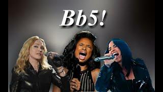 Female singers | Bb5 belt vocal battle(studio and live)