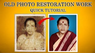 Damage photo repair-Old photo repair in Photoshop-Restore old photos-Old photo