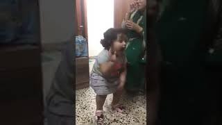 Cute little girl dancing on punjabi song....