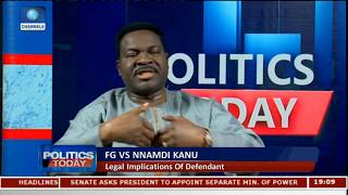 FG Should Have Waited For Legal Actions On IPOB Leader - Ozekhome Pt.2 |Politics Today|