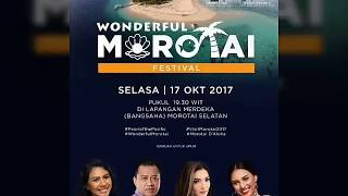 Morotai pecaaahhh di hibur Ayah Anang, Bunda Ashanty dan Kk Loly menghibur kota Morotai 😍😘