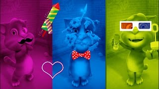 Learn Colors with Talking Pocoyo, Talking Tom Colours For Children Educational Cartoon Compilation