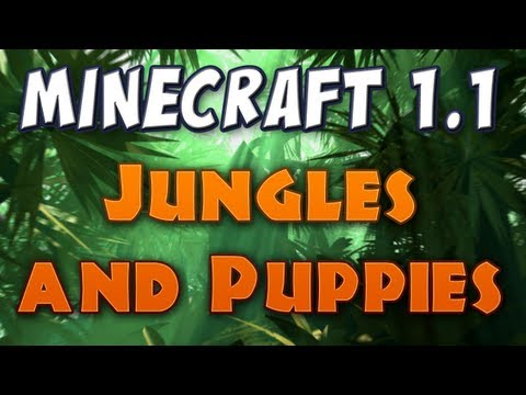 Minecraft Jungles & Wolf Puppies Patch 1.2 pre release 03a