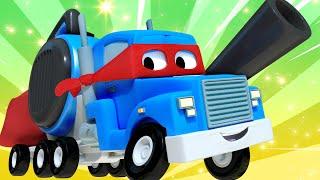 O trem de verão  - Carl o Super Caminhão na Cidade do Carro | Desenho animado para crianças