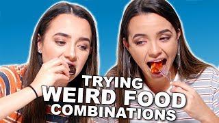 WEIRD Food Combinations People LOVE!!! - Merrell Twins