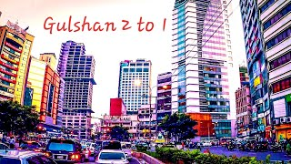 Dhaka City Gulshan 2 To 1 Magical Moto Drive Views ||